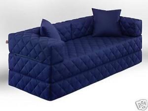 Vollschaum-Couch mit Schlaffunktion in 10 verschiedenen Farben