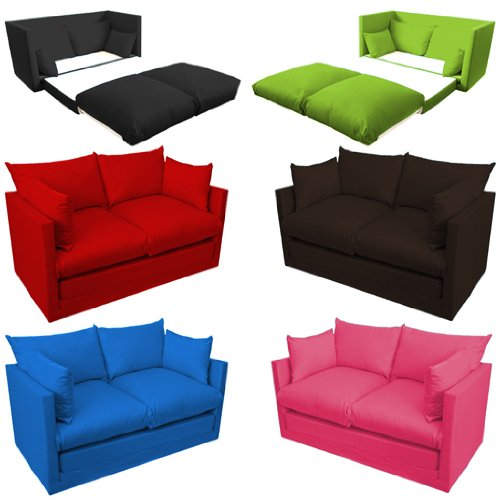ausklappbar kinder schlafsofa zweisitzer versch farben. Black Bedroom Furniture Sets. Home Design Ideas