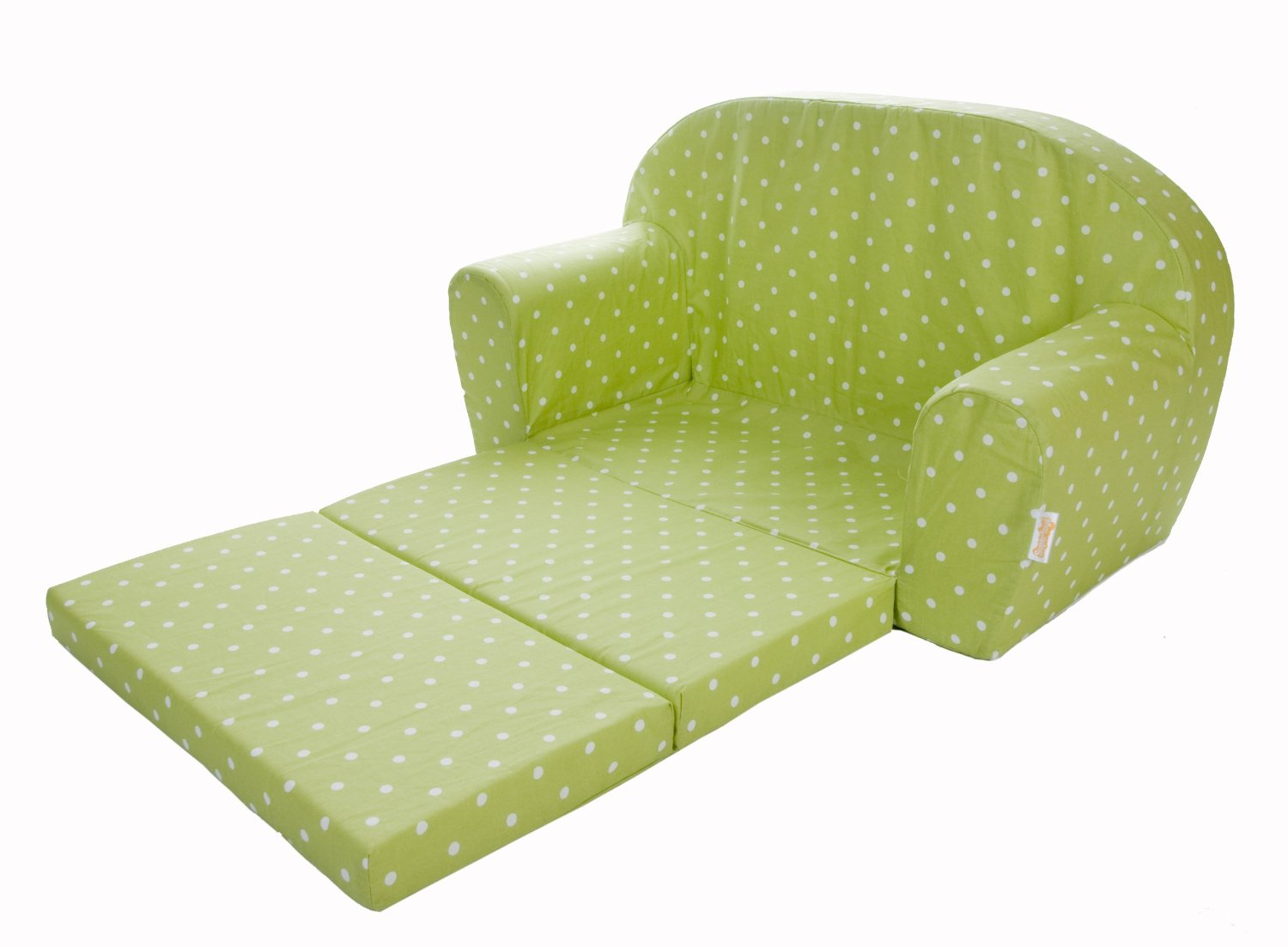 Gepetto mini kindersofa gr n for Mini schlafsofa